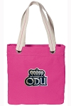 Old Dominion Tote Bag RICH COTTON CANVAS Pink