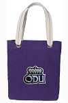 Old Dominion Tote Bag RICH COTTON CANVAS Purple