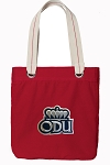 Old Dominion University Tote Bag RICH COTTON CANVAS Red