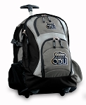 Old Dominion Rolling Backpack Black Gray