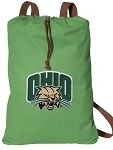 Ohio Bobcats Cotton Drawstring Bag Backpacks Cool Green