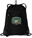 Ohio Bobcats Drawstring Backpack-MESH & MICROFIBER