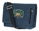 Ohio University Bobcats Messenger Bags STYLISH WASHED COTTON CANVAS Blue