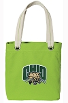 Ohio Bobcats Tote Bag RICH COTTON CANVAS Green