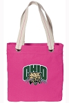 Ohio University Tote Bag RICH COTTON CANVAS Pink