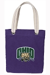 Ohio University Bobcats Tote Bag RICH COTTON CANVAS Purple