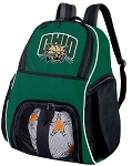 Ohio University Bobcats Soccer Ball Backpack Bag Green