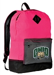 Ohio University Backpack Classic Style HOT PINK
