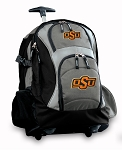 Oklahoma State Cowboys Rolling Backpack Black Gray