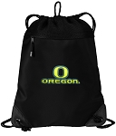 University of Oregon Drawstring Backpack-MESH & MICROFIBER