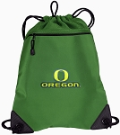 University of Oregon Drawstring Backpack Mesh and Microfiber