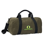 University of Oregon Duffel RICH COTTON Washed Finish Khaki