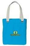 University of Oregon Tote Bag RICH COTTON CANVAS Turquoise