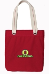 University of Oregon Tote Bag RICH COTTON CANVAS Red