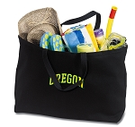 University of Oregon Jumbo Tote Bag Black