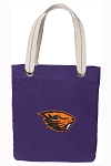 Oregon State Tote Bag RICH COTTON CANVAS Purple