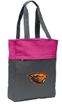 Oregon State University Beavers Tote Bag Everyday Carryall Pink