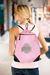Ladies OSU Drawstring Bag Mesh and Microfiber Pink