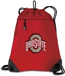 Ohio State Drawstring Backpack MESH & MICROFIBER Red