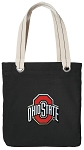 OSU Ohio State Tote Bag RICH COTTON CANVAS Black