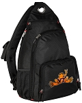 Virginia Tech Peace Frog Backpack Cross Body Style