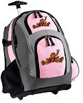Virginia Tech Peace Frog Rolling Backpack Pink