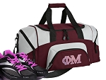 SMALL Phi Mu Gym Bag Phi Mu Sorority Duffle Maroon