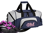 SMALL Phi Mu Gym Bag Phi Mu Sorority Duffle Navy