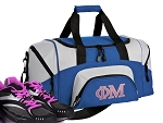 SMALL Phi Mu Gym Bag Phi Mu Sorority Duffle Blue