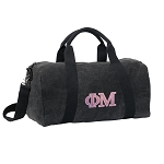 Phi Mu Duffel RICH COTTON Washed Finish Black