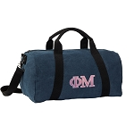 Phi Mu Duffel RICH COTTON Washed Finish Blue