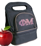 Phi Mu Lunch Bag Black