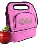 Phi Mu Sorority Lunch Bag Pink