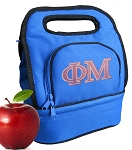 Phi Mu Lunch Bag Blue