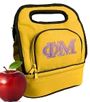 Phi Mu Lunch Bag Gold