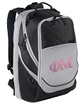 Phi Mu Sorority Laptop Backpack