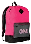 Phi Mu Backpack HI VISIBILITY Pink CLASSIC STYLE