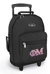 Phi Mu Rolling Backpacks Black