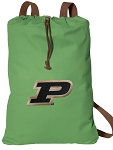 Purdue Cotton Drawstring Bag Backpacks Cool Green