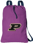 Purdue Cotton Drawstring Bag Backpacks Cool Purple