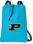 Purdue Cotton Drawstring Bag Backpacks Blue