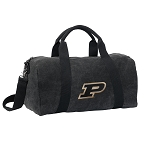 Purdue University Duffel RICH COTTON Washed Finish Black