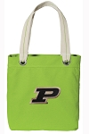 Purdue Tote Bag RICH COTTON CANVAS Green