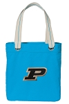 Purdue Tote Bag RICH COTTON CANVAS Turquoise