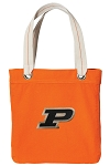 Purdue Tote Bag RICH COTTON CANVAS Orange