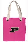 Purdue Tote Bag RICH COTTON CANVAS Pink