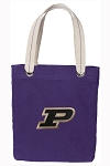 Purdue Tote Bag RICH COTTON CANVAS Purple