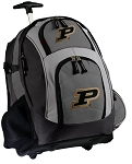 Purdue Rolling Backpack Black Gray