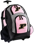 Purdue Rolling Backpack Pink