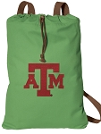 Texas A&M Cotton Drawstring Bag Backpacks Cool Green
